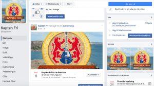 Kapten Fri på Facebook
