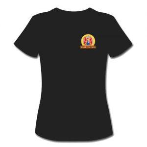 T-shirt dam-modell med ca 8 cm stor Kapten Fri logga på vänster bröst.