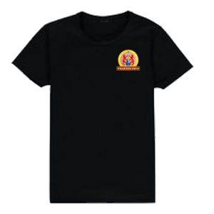 T-shirt herr-modell med ca 8 cm stor logga Kapten Fri fram på vänster bröst.