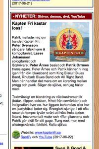 Fridhammar.com skriver om Kapten Fri